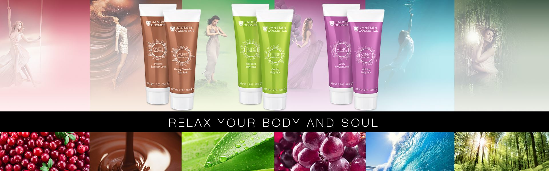 Relax your Body and Soul - Janssen Cosmetics Wellness Minis