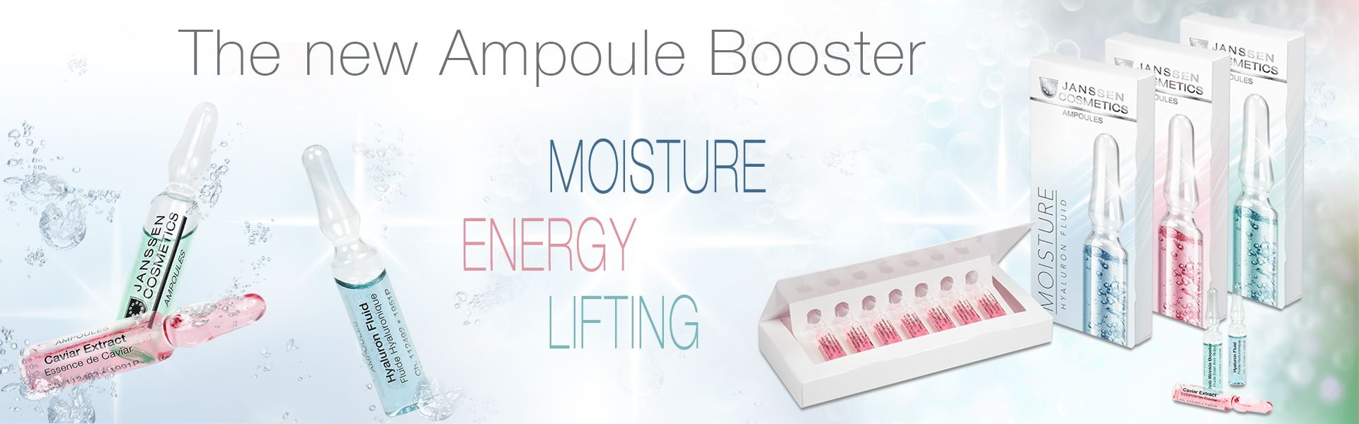 the new Ampoule Boosters of Jansen Cosmetics: Moisture, Energy and Lifting
